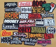 Lot Of 28 Iron On Patch Mix Embroider Rock Music Logo Band Wholesale DIY