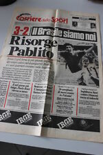 Corriere dello Sport Stadio 6 luglio 1982 Risorge Pablito Italia-Brasile 3-2