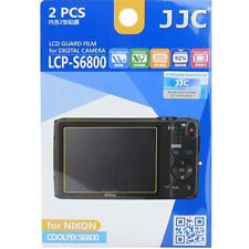 JJC LCP-S6800 polycarbonate LCD Film Screen Protector For Nikon S6800  2 Pack