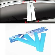 Chrome B Pillar Molding Trim Cover 4Pcs For KIA Rio 4D 5D 2012 2016