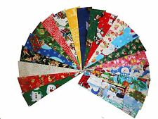 "40 2.5X10 "" Quilting RAIL FENCE STRIPS Beautiful Christmas Medley !!!"
