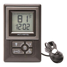 AcuRite 00891w Indoor/Outdoor Digital Thermometer With Humidity Gauge & Clock