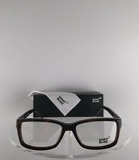 New Authentic MONT Blanc MB 443 056 Eyeglasses Havana Tortoise MB443 57mm Frame