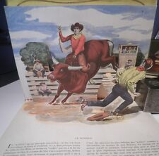 POP UP Les COWBOYS illustrations en relief Joseph Dreany ranch chevaux dressage