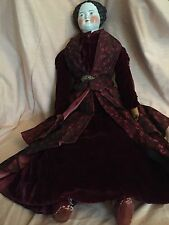 "Antique German 28""  1860 Civil War China Lady Antique Clothes & Body"