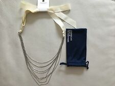 American Eagle Black Stone Silver Adjustable Necklace(New with Bag)