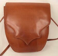 BROWN LEATHER SATCHEL SHOULDER BAG HANDBAG PINK PANTHER