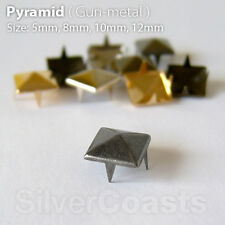 Pyramid Spike Studs Claw Rivets, DIY Costume Bag Belt Shoes Leather UK Seller