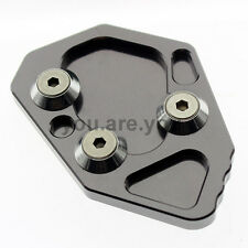 Side Stand Kickstand Extension Foot Plate Pad For BMW K1200R 2005 06 07 08 Gray