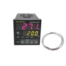 ITC-100RL 12V 24V PID Temperature controller + pt100 relay Probe heater TEMP FAN