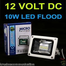 10W MICRO DC 12VOLT WATERPROOF PURE COOL WHITE LED FLOOD LIGHT  SMD BULB LIGHT