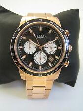 ROTARY MEN'S WATCH GB00355/04 ROSE GOLD STAINLESS STEEL CHRONOGRAPH GENUINE