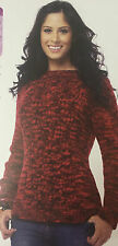 KNITTING PATTERN Ladies Twisted Cable Jumper Sweater Manos Del Uruguay PATTERN