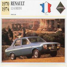 1970-1974 RENAULT 12 GORDINI Classic Car Photograph / Information Maxi Card