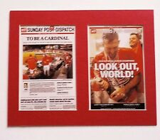 ST. LOUIS CARDINALS WIN 2013 NLCS  MATTED PHOTOS OF NEWSPAPER FRONT PAGES