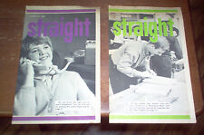 Straight Magazine Two Issues 1967 Sixties 60's Teen Youth Christian RARE