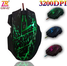 NEW 3200DPI 8D LR GM03 Optical Usb Gaming Mouse for PC Laptop RAZER WOW LOL CF