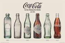 COCA COLA VINTAGE BOTTLE EVOLUTION POSTER (91x61cm)  PICTURE PRINT NEW ART