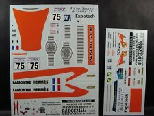 "DECALS 1/24 PORSCHE 911 GT3 RS  #75 ""PERSPECTIVE RACING"" LM 2001 - COLORADO 2466"