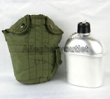 US Military 71 Vietnam Era 1 QUART CANTEEN COVER 1QT VGC w NEW Aluminum Canteen