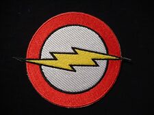 Flash Logo Lightning Bolt  DC Comics Iron-On Embroidered Patch