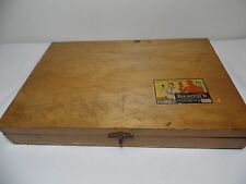 Old Original Chemcraft Dovetail Hinged Wood Box Storage Case