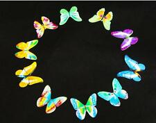 20 Butterflies Edible Rainbow DIY Cupcake Fairy Cake Toppers Wafer Decorations