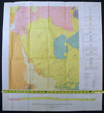 USGS PINAL RANCH GEOLOGY ARIZONA Vintage 1963, with FULL COLOR GEOLOGIC MAP