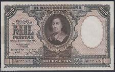 RARO BILLETE ESPAÑA - 1.000 PTAS AÑO 1940 - BARTOLOME MURILLO - SERIE A
