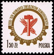 Polska Poland 1976 Fi 2325 Mi 2472 MNH Kongres Związków Zawodowych
