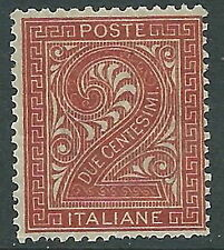 1863-65 REGNO CIFRA 2 CENT TORINO MNH ** - Y171-4