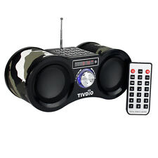 Portable FM Stereo Radio Speaker MP3 Music Player Digital Cam USB+Remote Control