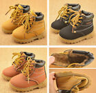 Girls Child Kid British Style Martin Shoes Boots Boys Lace Up Toe Casual Shoes