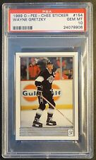 1989 O-PEE-CHEE STICKER WAYNE GRETZKY #154 PSA 10  KINGS   POP 16   (703)