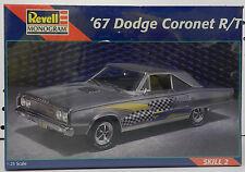 DODGE BOYS GIRL CORONET R/T REBELLION 426 HEMI 67 1967 REVELL MONOGRAM MODEL KIT
