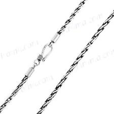 "18"" 2.5MM BALI LINK CHAIN 925 STERLING SILVER necklace"