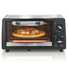 Hamilton Beach 4 Slice Capacity Energy-Saving Toaster Oven, Black | 31134