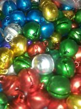 20 x Jingle Bells Multi-coloured Small 8mm Christmas Crafts Jewellery Charms UK