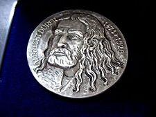 GERMAN PAINTER DURER 1471-1528 / GERMAN STERLING SILVER MEDAL / BOX / M99