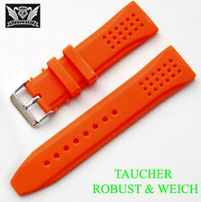 SILICON UHRENARMBAND  CAVADINI TOP QUALITÄT IN HÜBSCHE ORANGE 24 MM