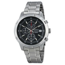 Seiko Chronograph Black Dial Stainless Steel Mens Watch SKS421