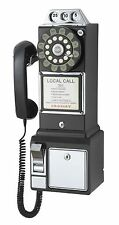 Vintage Telephone Replica 1950 Pay Phone Rotary Dial Wall Mount Game Living Room