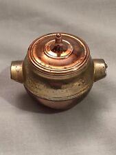 Miniature brass cooking pot