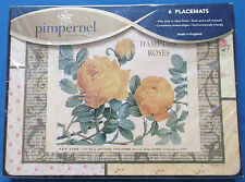 Non utilisé six pimpernel style vintage hampton rose table sets de table factory sealed