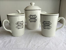 Tim Hortons Always Fresh teapot Steelelight coffee tea mugs made in England