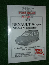 RENAULT KANGOO NISSAN KUBISTAR WORKSHOP MANUAL 1.2 1.4 1.6 PETROL +4x4 2001-2006