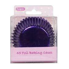 Culpitt 45pk FOIL PURPLE 50mm Standard Cupcake Cup Cake Muffin Baking Cases