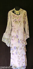 CATTIVA Size 18 Lilac Green Pink Ladies Designer Wedding Dress & Jacket Outfit