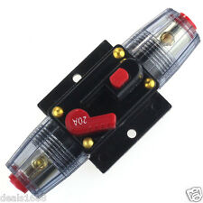 DC 12V Inline Circuit Breaker Fuse Holder Truck Car Audio Stereo Amplifier 60A