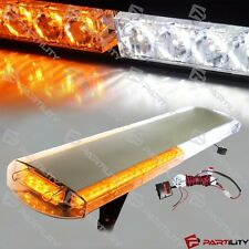 "33"" 56 LED White Amber Emergency Warning Truck Strobe Light Tow Bar Roof Bolt"